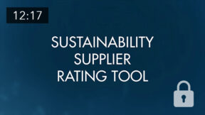 Sustainability Supplier Rating Tool